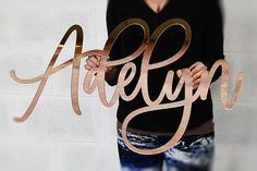 Large Flourish Calligraphy Style Wall Name Sign – The Gilded LineYou can find Name signs and more on our website.Large Flourish Calligraphy Style Wall Name Sign – .