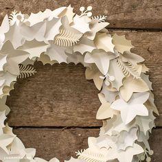 Paper DIY Winter Wreath