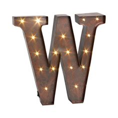 W Large Galvanized Metal Letter  Industrial Chic