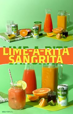 We know you'll love this easy and fun summer sangria recipe! 1) Rub lime around the rim of the glass and dip into salt. 2) Fill glass with ice and pour in Lime-A-Rita. 3) Top with orange juice, grapefruit juice, grenadine and pepper and give a quick stir. 4) Squeeze lime wedge into drink and drop in for garnish.
