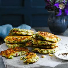 These courgette and bacon fritters would also make a lovely brunch option.