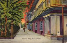 Vintage postcard - Pirate's Alley NOLA