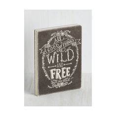 Sayings Thoreau-ly Detailed Anecdotes Journal ($15) ❤ liked on Polyvore featuring home, home decor, stationery, black, home accessory and office