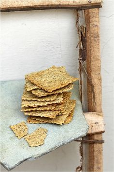 Delicious, light, addictive, versatile and simple to make, crackers don't get better than this. I made some seedy crisps for canapes with the same dough too. Savoury Biscuits, Savoury Baking, Cheese Biscuits, Whole Food Recipes, Snack Recipes, Healthy Recipes, My Favorite Food, Favorite Recipes, Homemade Pastries