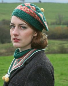 Noblesse Oblige Scarf and Beret in Susan Crawford Fenella 2 Ply | Knitting Patterns | LoveKnitting