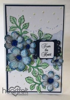 Heartfelt Creations | Blue Blooms From The Heart
