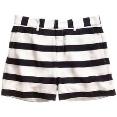 Madewell MADEWELL Picket-Stripe Clover Shorts ($70) ❤ liked on Polyvore featuring shorts, bottoms, short, madewell, madewell shorts, nautical shorts, striped shorts and stripe shorts