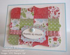 quilt card  source: sarah willis blog spot. She has great tutorials too!!!
