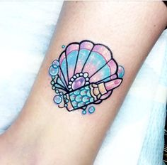 My amazing Mermaid Tattoo by Carla at Frontyard Tattoo SA #mermaidtattoo #shelltattoo #tattoo #ankletattoo #pasteltattoo #lipsticktattoo #girly #ink