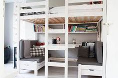 Image result for lofted double bed