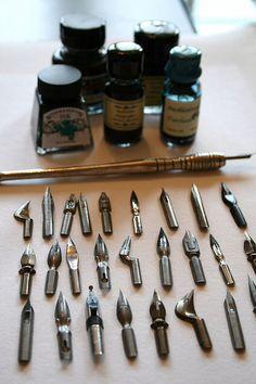 Vintage pen nibs...