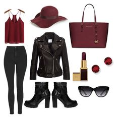 """""""Untitled #6"""" by dalma-pothorszki ❤ liked on Polyvore featuring Topshop, Jezzelle, MICHAEL Michael Kors, Tom Ford, Elizabeth and James and Kevin Jewelers"""