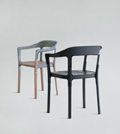 Steelwood chair Magis by Bourollec