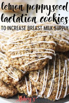 These Lemon Poppyseed Vegan Lactation Cookies are gluten free, dairy free and plant based, while being packed with nutritious ingredients to help increase breast milk supply for breastfeeding mamas. Lactation Recipes, Lactation Cookies, Healthy Cookies, Healthy Snacks, Healthy Recipes, Healthy Kids, Healthy Living, Lactation Smoothie, Breastfeeding Foods