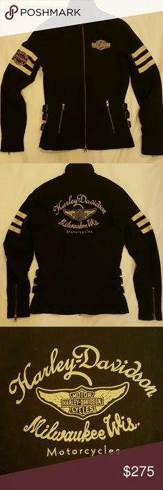 *On Hold Harley Davidson Jacket Long waisted Harley Davidson riding jacket. Perfect for warmer weather rides. Zippers on sleeve, 3 adjustable buckles on each side. Harley-Davidson Jackets & Coats Utility Jackets