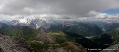 Fotografia panoramica: vista dal Pordoi