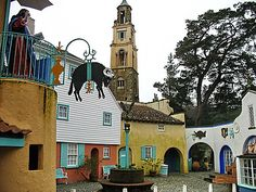 portmeirion architecture - main courtyard entrance atthe heart of the village My grandfather helped design the village