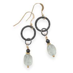 Blue Quartz Rain Drop Earrings