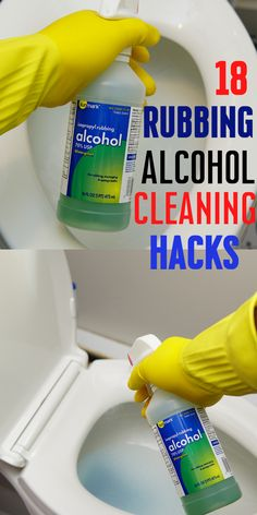 18 Rubbing Alcohol Cleaning Containers - Amazing Alcohol Hacks You Love . - 18 Rub Alcohol Cleaning Containers – Amazing Alcohol Hacks You Love and Never Thought. Clean and d - Homemade Cleaning Products, Cleaning Recipes, Natural Cleaning Products, Cleaning Hacks, Household Cleaning Tips, House Cleaning Tips, Diy Cleaners, Cleaners Homemade, Rubbing Alcohol Uses
