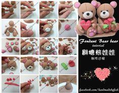 How to make cute fondant bears