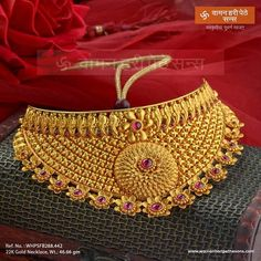 Image may contain: 1 person Gold Chocker Necklace, Gold Jhumka Earrings, Gold Necklaces, Gold Bangles, Gold Jewelry Simple, Gold Wedding Jewelry, Gold Mangalsutra Designs, Gold Jewellery Design, Necklace Designs