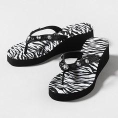 19 Best Zebra Print Flip Flops Images In 2014 Flip Flops