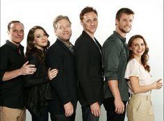 Tom Hiddleston and his Thor costars.(I am shorter than Natalie Portman?!?!)