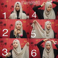 Hijab Go to. Home Beauty Life Style DIY Tutorials Hijab Tutorials Hijab Outfit Ideas My Outfit of The Day 6 Steps Full Coverage Hijab Tutorial Square Hijab Tutorial, Simple Hijab Tutorial, Hijab Style Tutorial, Scarf Tutorial, Diy Tutorial, Muslim Women Fashion, Islamic Fashion, Latest Fashion For Women, Hijab Outfit