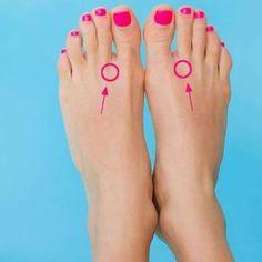 """Drück diese zwei Punkte auf deinen Füßen - der Effekt ist erstaunlich! - """"Eine Wohltat: Wenn ihr Druck auf diese Punkte ausübt, erwirkt ihr eine unglaublich angenehme Reaktion eures Körpers!"""""""