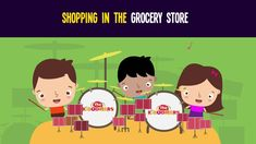 "Stream ""Shopping in the Grocery Store"" song in the kindergarten classroom.  Includes 4 food groups.  #kidsmusic #food #kindergarten"
