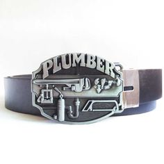 T-DISOM Hot Sale Plumber Belt Buckle Brand Western Design For Mens Accessories Along With Black Blets Drop shipping