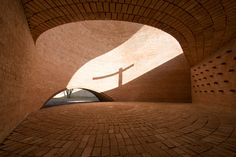 San Bernardo Chapel   La Playosa (Argentina)   By Nicolás Campodonico (see video)  On a mountain immersed in the plane of the pampa – in La Playosa, a town in the Argentinian province of Córdoba – stands this chapel built in brick, surrounded by trees. A work of Nicolás Campodonico (Rosario, 1973
