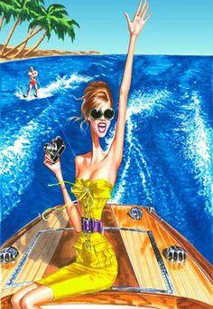R♥Z Fashion Illustration: Aruturo Elena Art And Illustration, Illustrations And Posters, Fashion Illustrations, Magazine Illustration, Illustration Fashion, Mellow Yellow, Summer Art, Fashion Sketches, Fashion Art