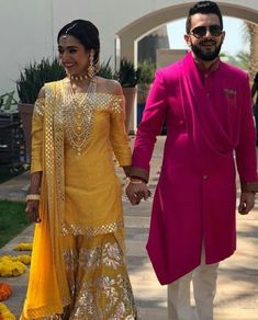 22 Stylish Mehndi Dresses for Men is part of Mehndi dress - Latest trends in Beauty, Fashion, Indian outfit ideas, Wedding style on your mind We have something for you! Sangeet Outfit, Mehndi Outfit, Mehndi Dress, Mehndi Clothes, Indian Groom Wear, Indian Attire, Indian Wear For Men, Indian Gowns Dresses, Pakistani Dresses