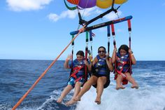 Parasailing with Paradise Water Sports Waikiki - minimum age is 5 so it is a great family activity #KidsInHawaii #Hawaii #Travel #Parasailing