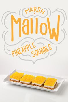 The square root of our Creamy Marshmallow & Pineapple Squares equals deliciousness.