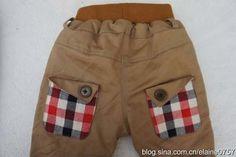 Patron para hacer un pantalon para bebe01