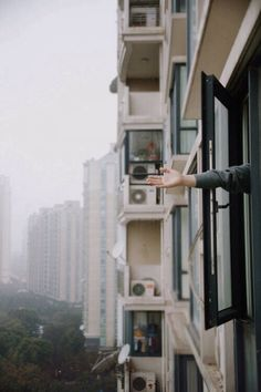 city living-reach for an urban high five ; Nanu Nana, Through The Window, Photos, Pictures, Architecture, City Life, Shanghai, Beautiful Places, Scenery