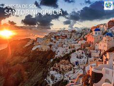 Ver una puesta de sol en Santorini, #Grecia 🌅