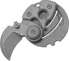 Serge Panchenko Coin Claw Mid-Tech Slipjoint Folder 1 inch Stonewashed 154CM Blade, Titanium Handles EDC