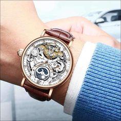 (1) AMAZINGBABA - Aviation Metail Frame Quality Leg Alloy Men - AmazingBaba Skeleton Mechanical Watch, Automatic Skeleton Watch, Skeleton Watches, Automatic Watches For Men, Steampunk, Waterproof Watch, Luxury Watches For Men, Watch Brands, Fashion Watches