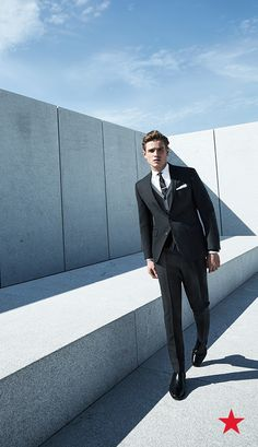 Black is back this season with a whole new attitude. Make sure that's you've got the perfect slim-fit suit hanging in your wardrobe this Fall —Ryan Seacrest Distinction