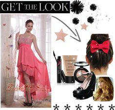 """""""Watermelon Empire Straps High-low Chiffon Beading Prom Dress"""" by fancydressesforyou ❤ liked on Polyvore"""