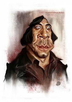 Javier Bardem por Stephen L. Walkes - Caricaturas de Famosos