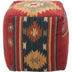 This decorative pouf is perfect for adding spice to any home. This unique furniture is perfect for any living space.