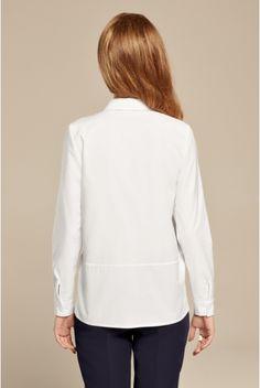Biała koszula oversize z bawełny oxford
