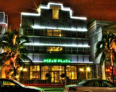 Ocean Plaza Hotel Ocean Drive Night Fine Art Photography by Roman Gerardo