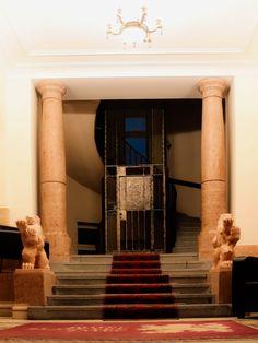 Hotel Zlaty Lev Zatec #hall Stairs, Home Decor, Stairway, Decoration Home, Room Decor, Staircases, Home Interior Design, Ladders, Home Decoration