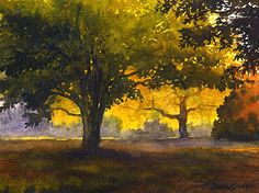 "Pocket of Light by Susan Lynn Watercolor ~ 9"" x 12"""