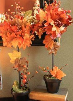 осенний топиарий из листьев